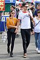 sarah hyland and wells adams share sweet kiss at the farmers market 05