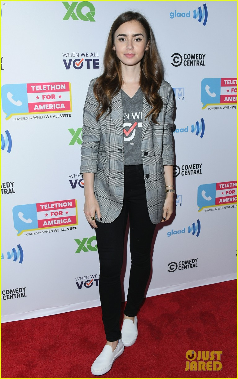 lily collins vote telethon november 2018 00