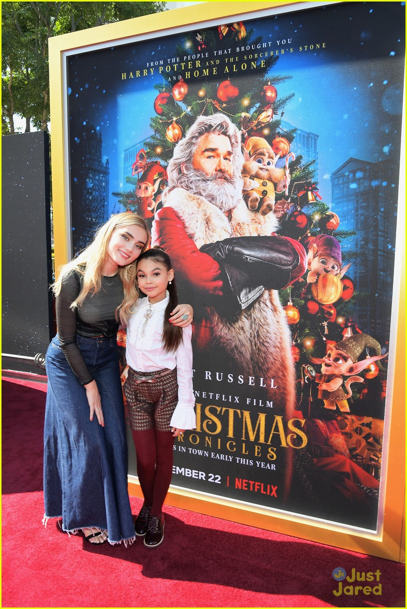 The Christmas Chronicles Poster.Meg Donnelly Ariana Greenblatt Celebrate The Holidays At