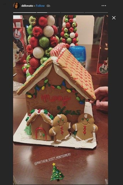 demi lovato gingerbread houses ig stories 02