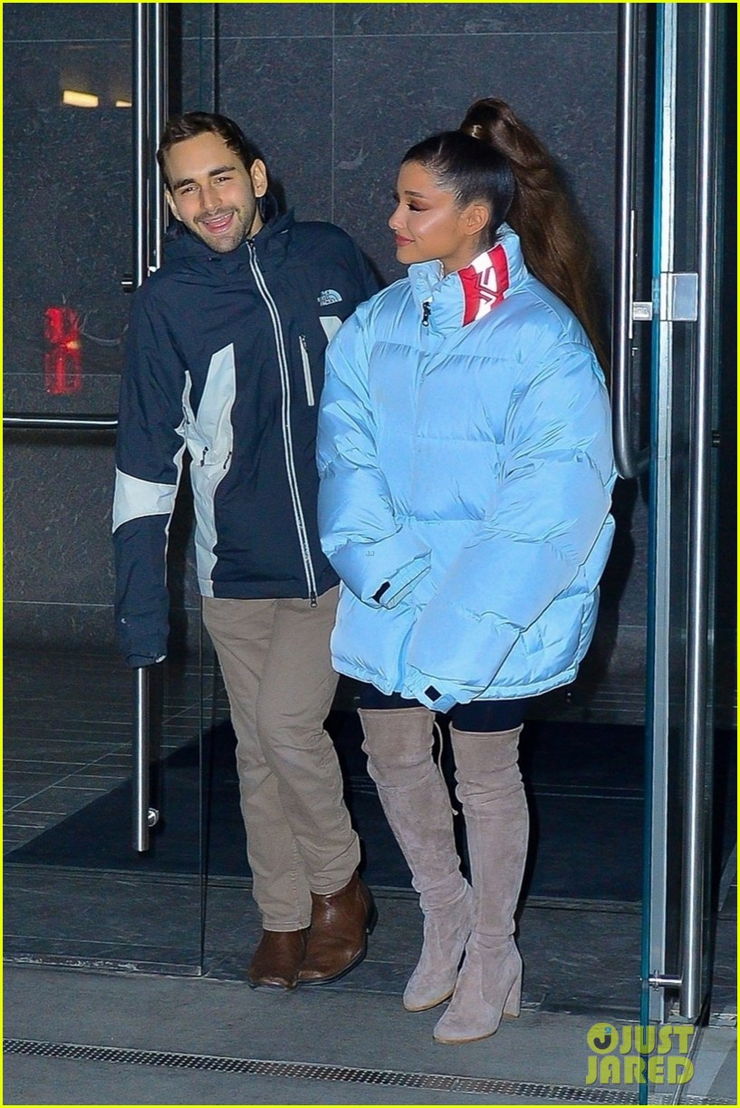 ariana grande and former broadway co star aaron simon gross hang out in nyc 05