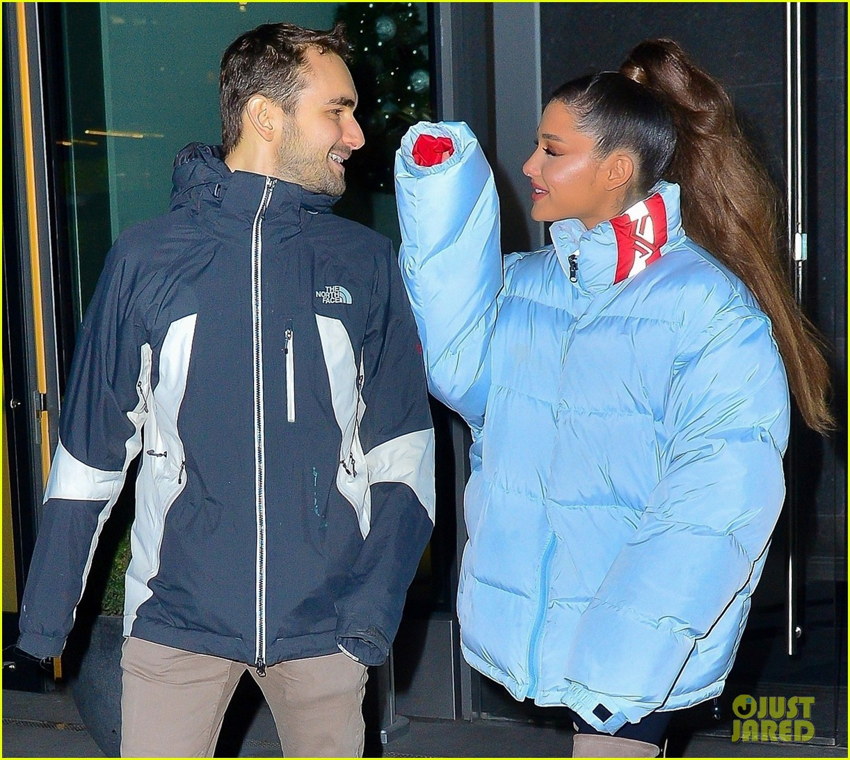 ariana grande and former broadway co star aaron simon gross hang out in nyc 07