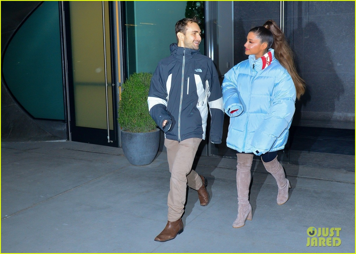 ariana grande and former broadway co star aaron simon gross hang out in nyc 08
