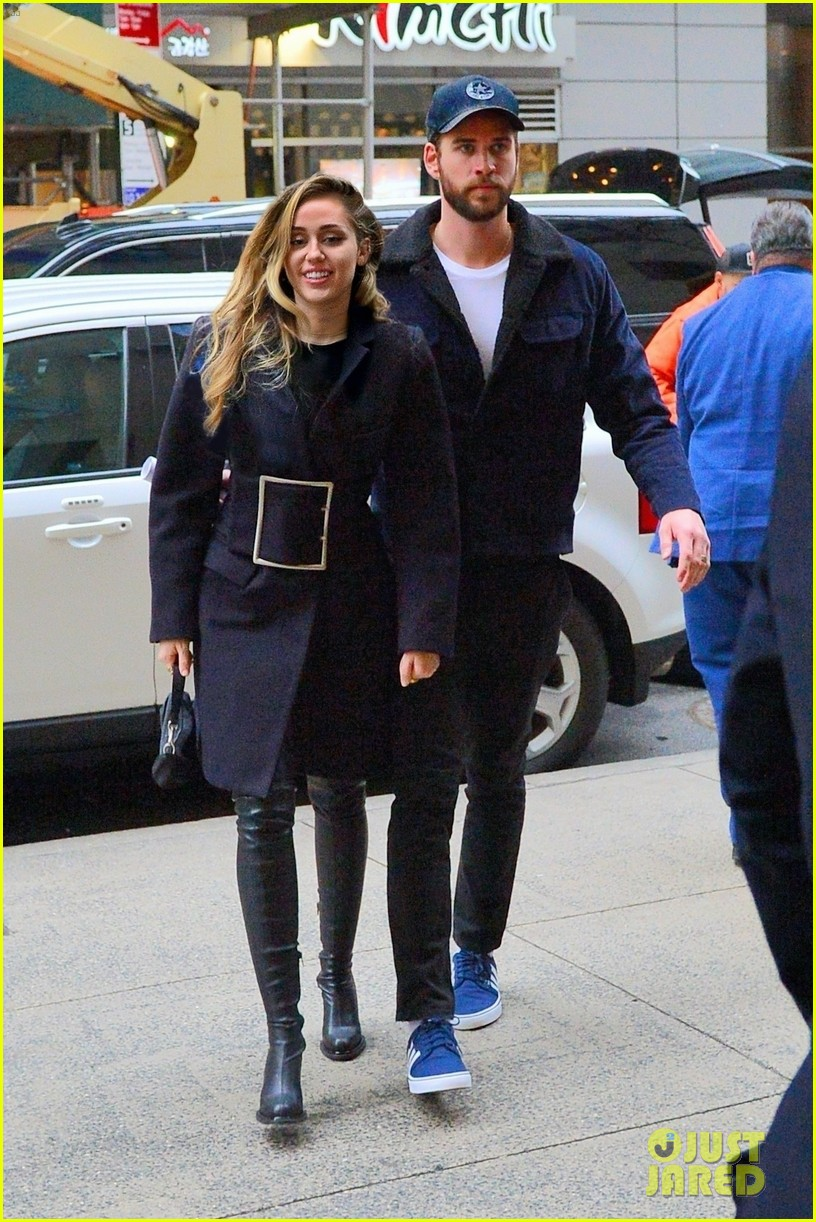 miley cyrus is joined by liam hemsworth in nyc ahead of snl performance 01