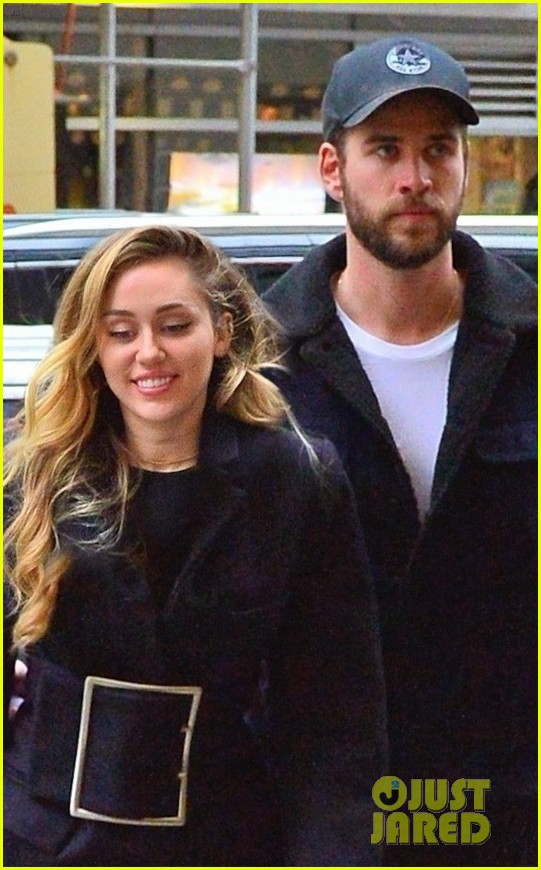 miley cyrus is joined by liam hemsworth in nyc ahead of snl performance 02