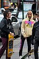 jaden smith is all smiles while filming a music video with a friend 08