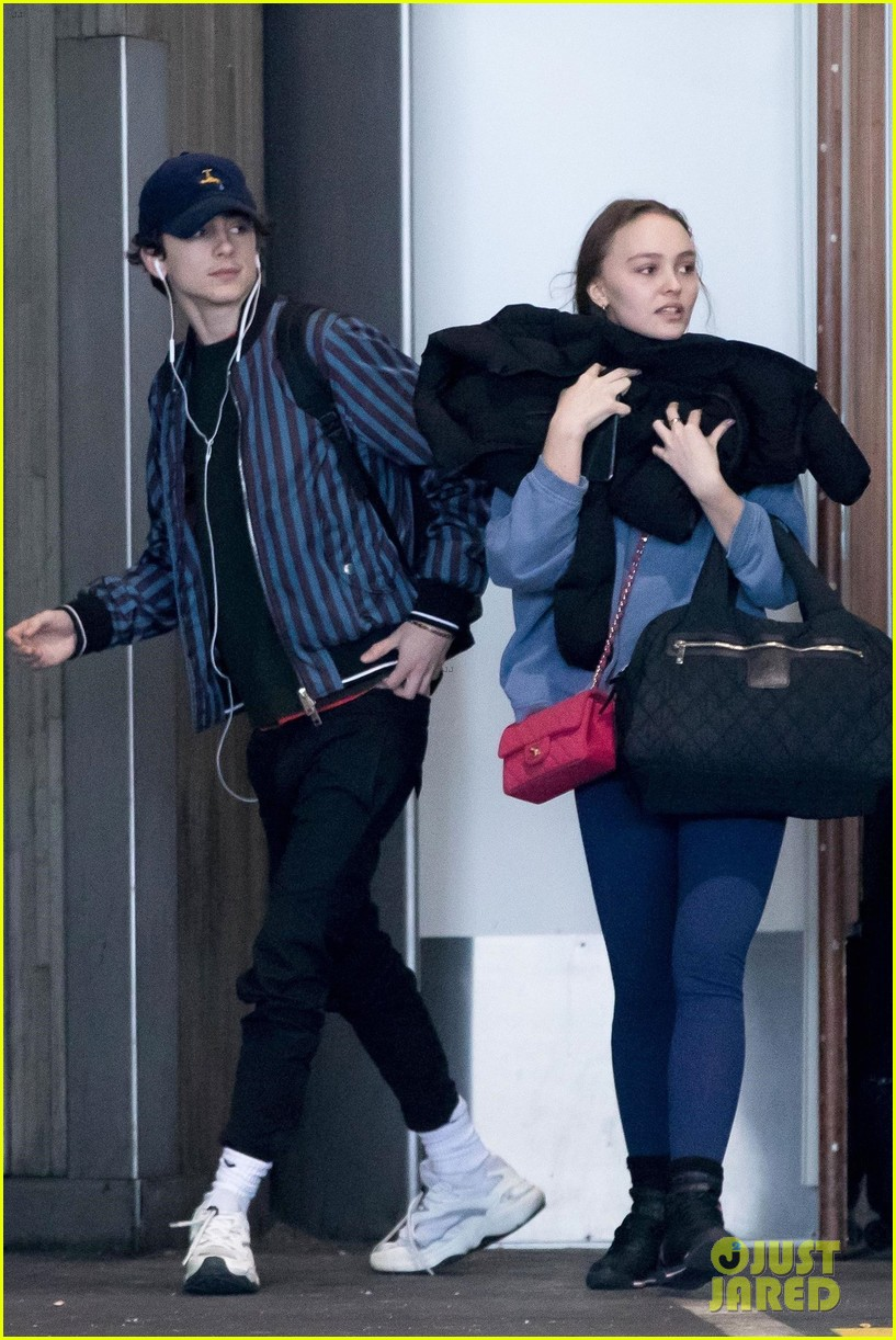 timothee chalamet lily rose depp france for the holidays 01