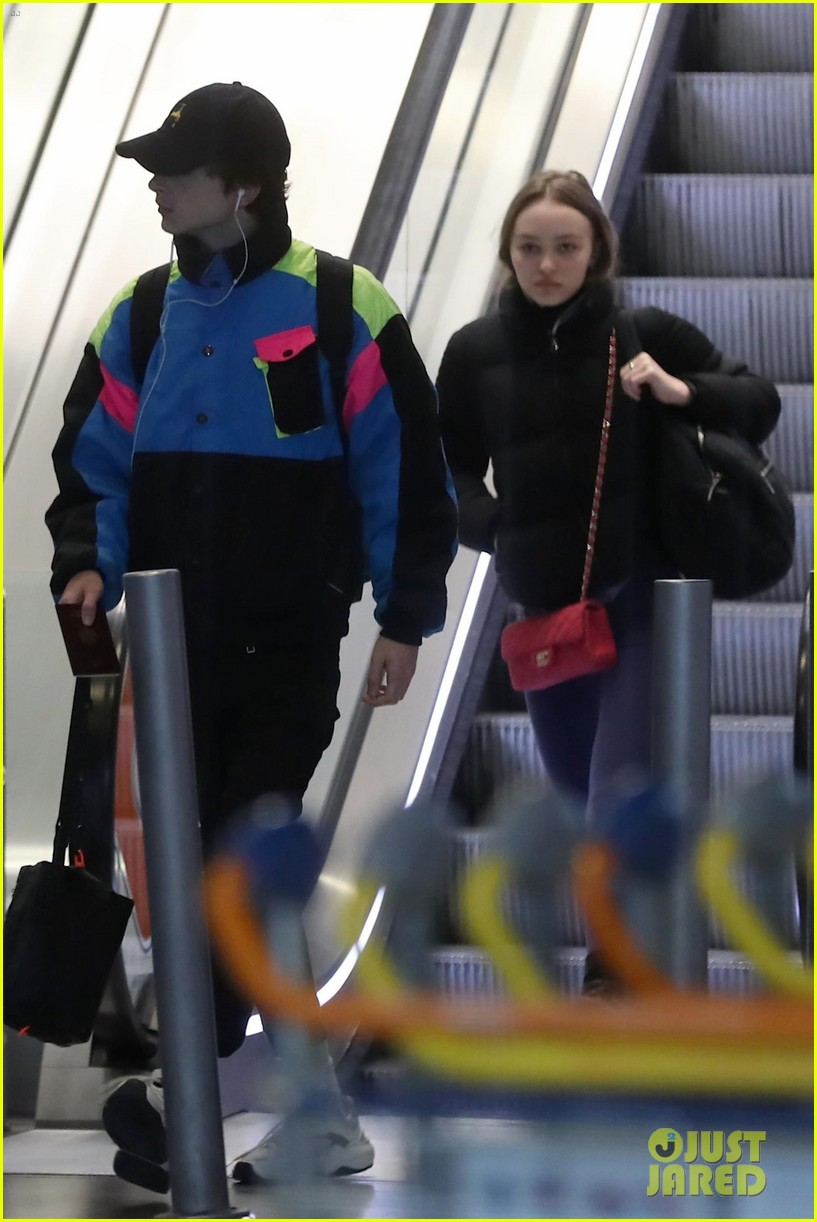 timothee chalamet lily rose depp france for the holidays 05