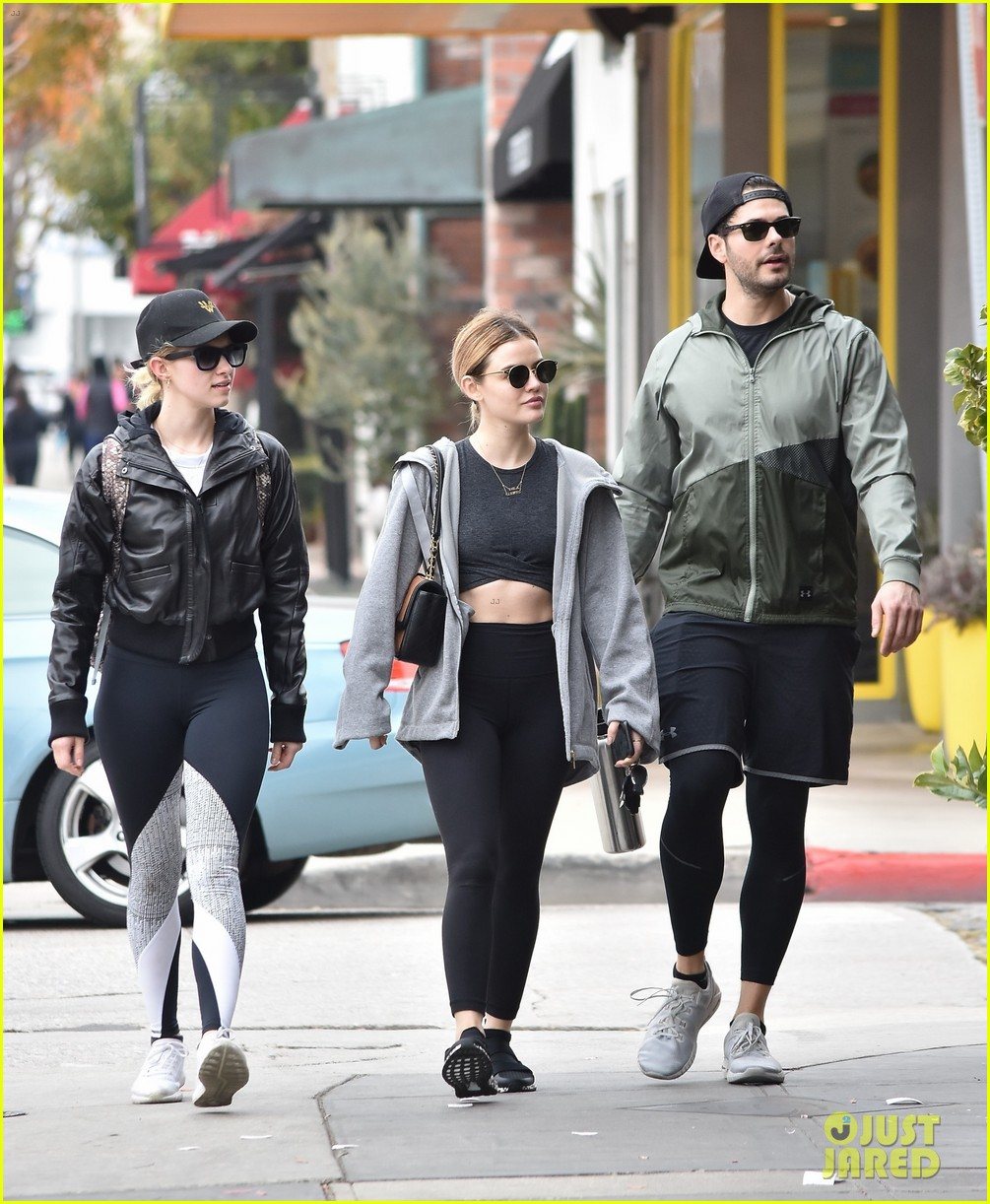 lucy hale joins life sentence co star jayson blair for workout 03