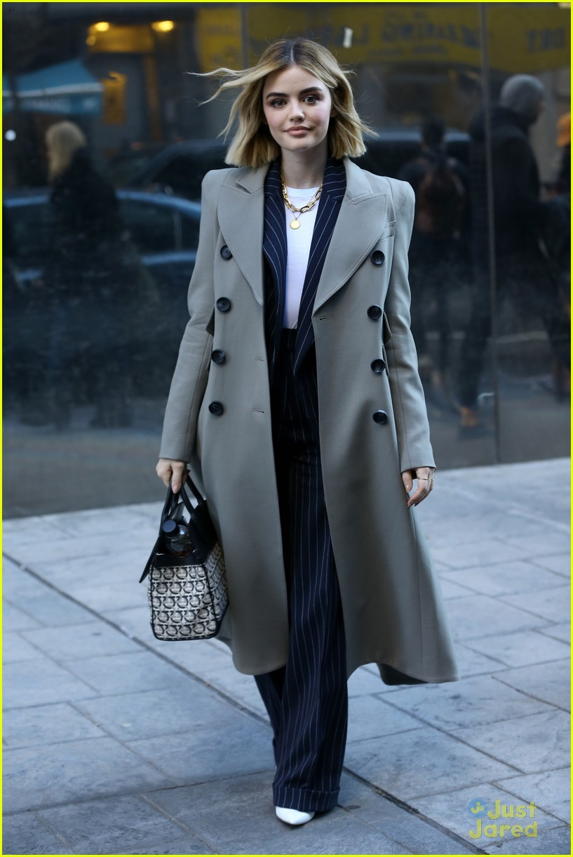 lucy hale suit look nyc 04