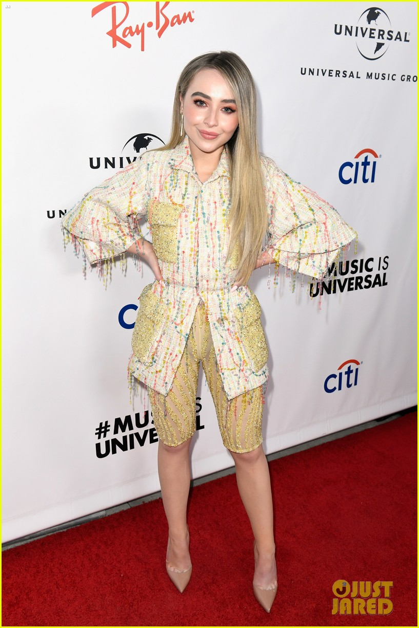sabrina carpenter glows in yellow at universal music groups grammys 2019 after party 04