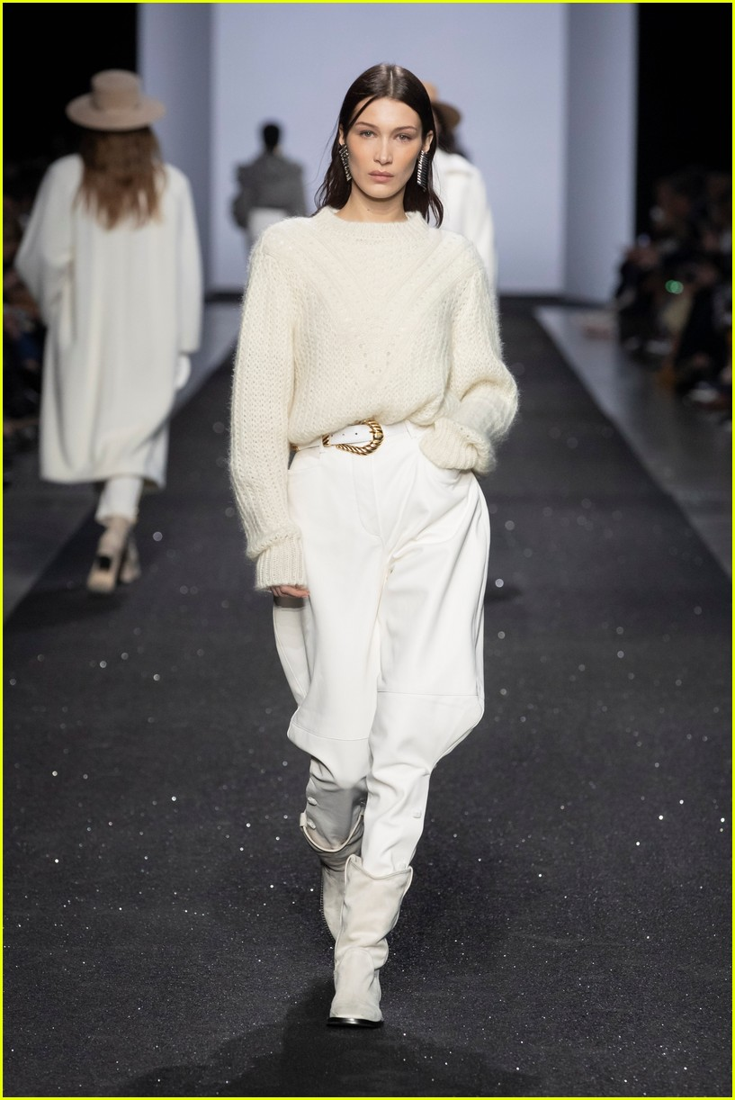 bella hadid rocks two looks at alberta ferrettis milan fashion week show 02
