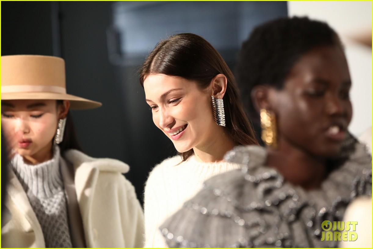 bella hadid rocks two looks at alberta ferrettis milan fashion week show 15