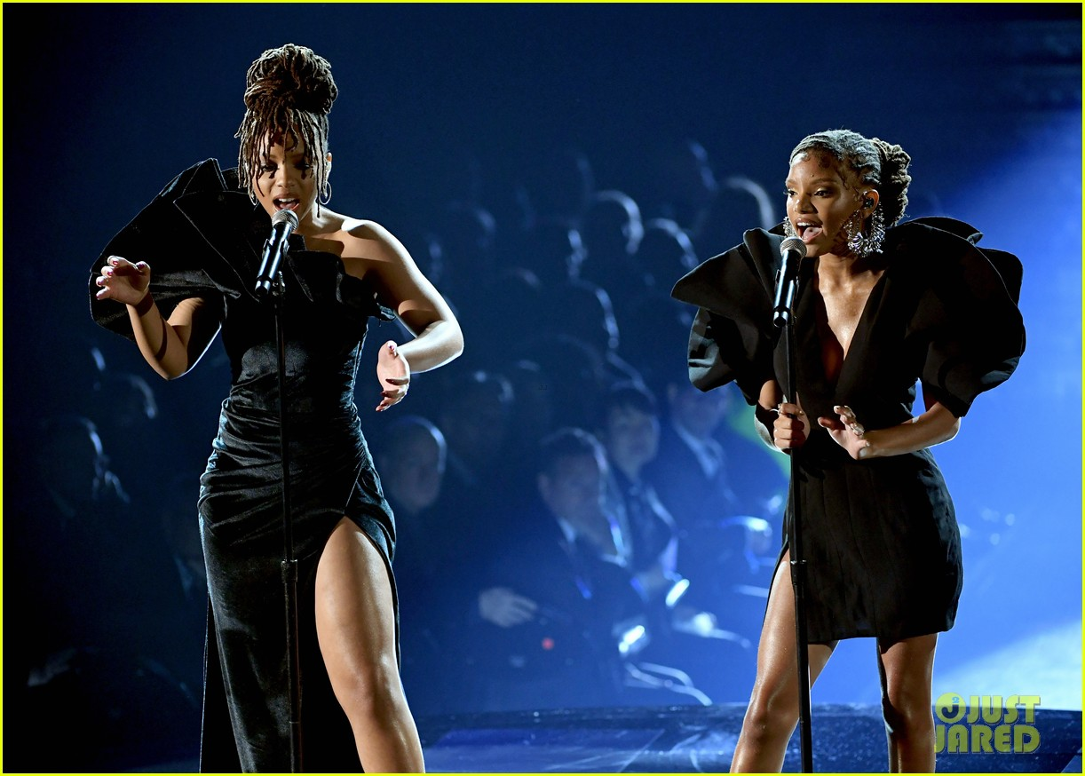 chloe x halle perform where is the love at grammys 06