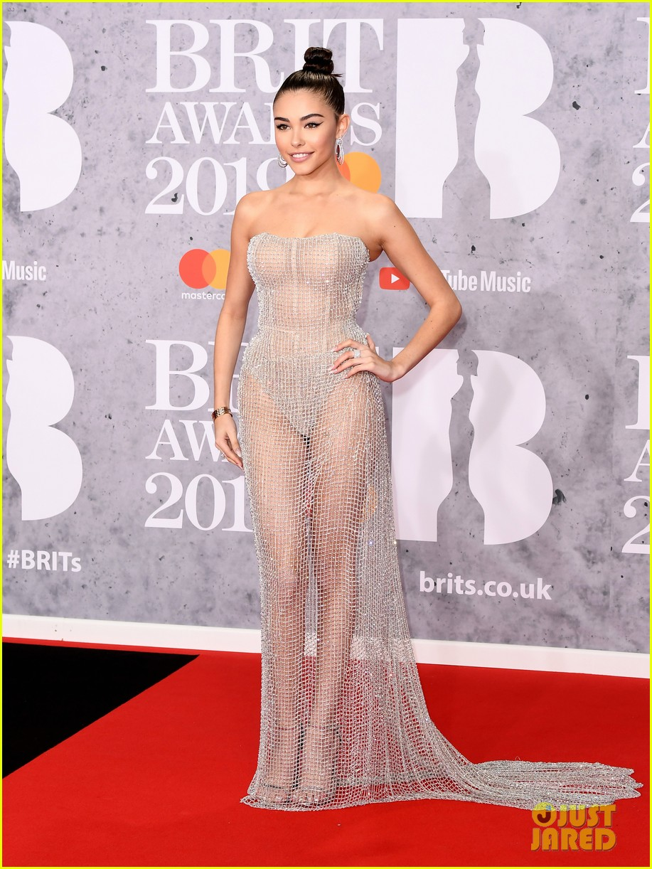 Madison Beer Wears Completely Sheer Dress To Brit Awards