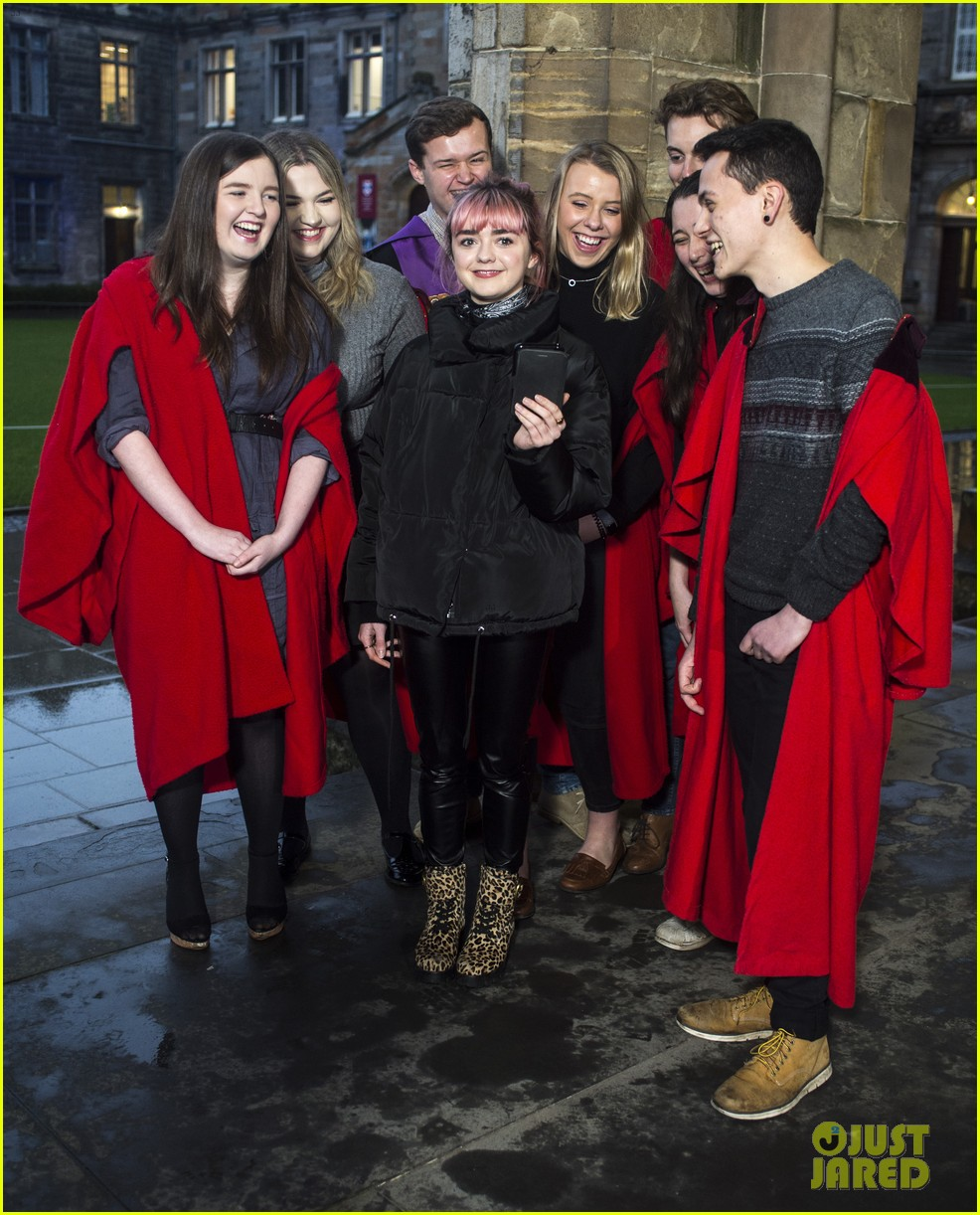 maisie williams app university februrary 2019 17