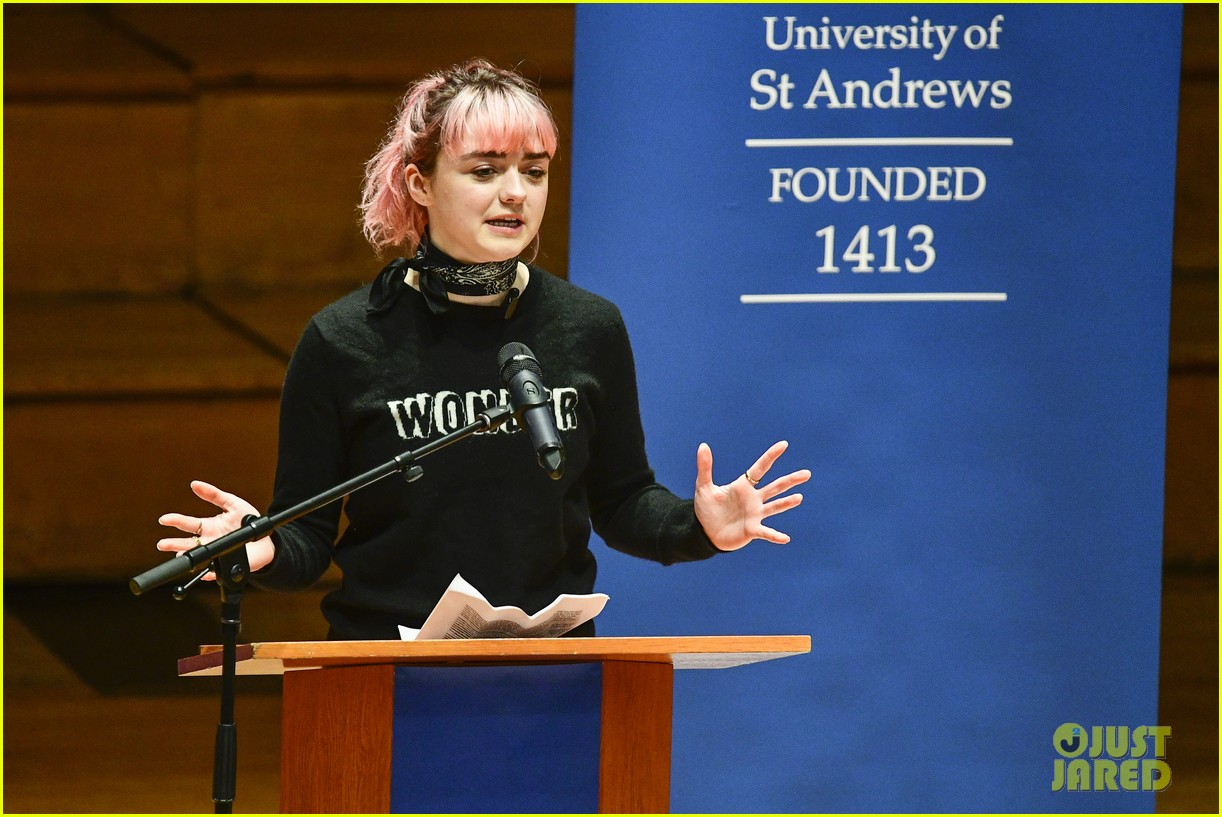maisie williams app university februrary 2019 29