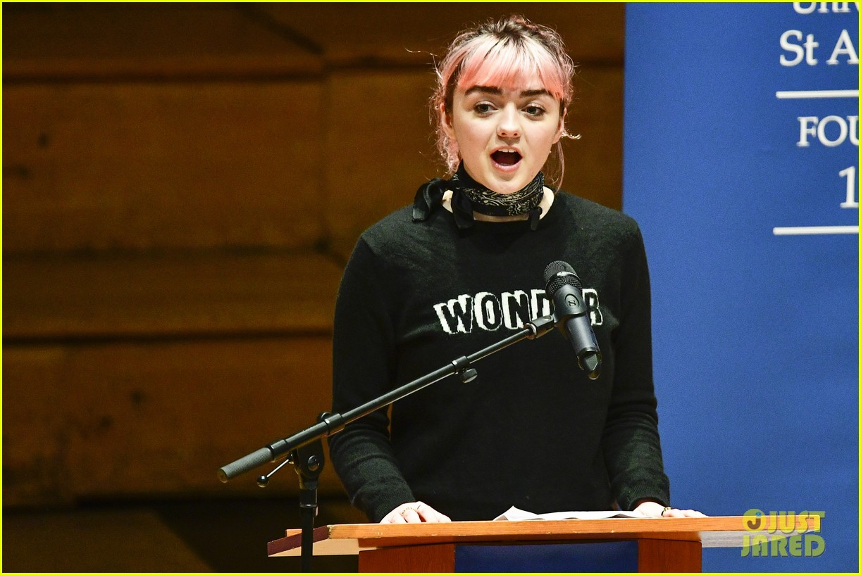 maisie williams app university februrary 2019 31