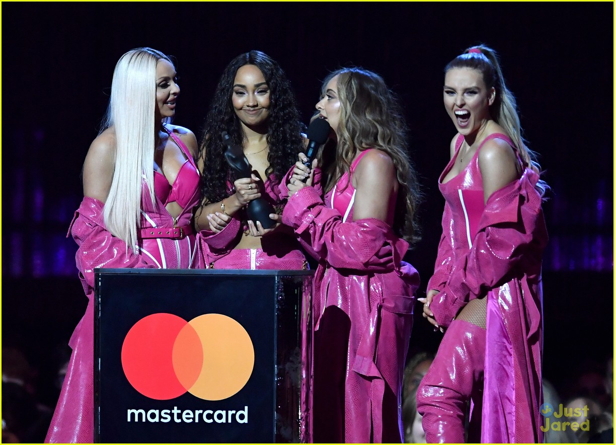 little mix pink look win brits 07