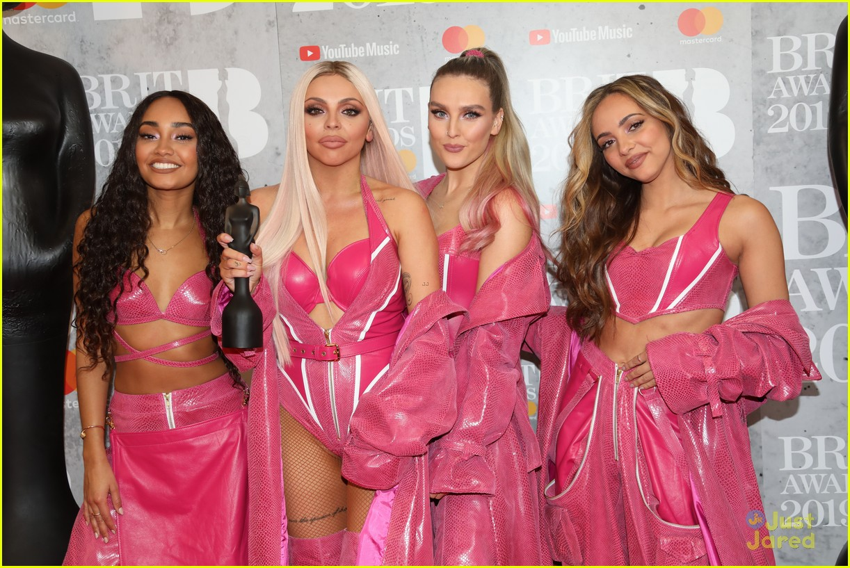 little mix pink look win brits 10