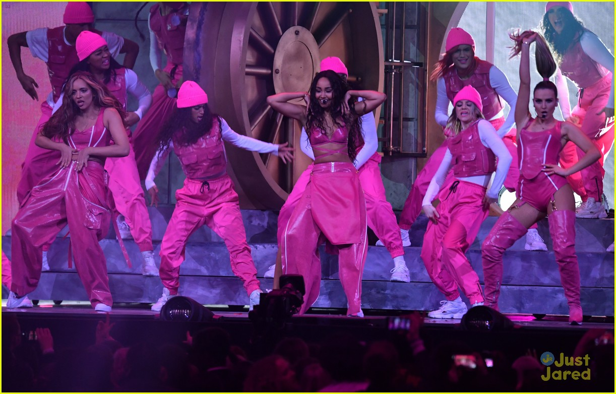 little mix pink look win brits 12