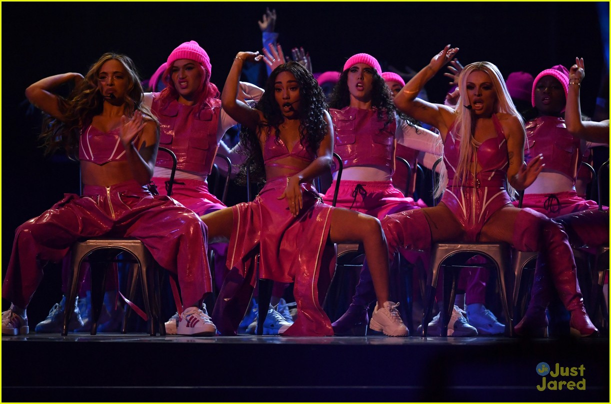little mix pink look win brits 16