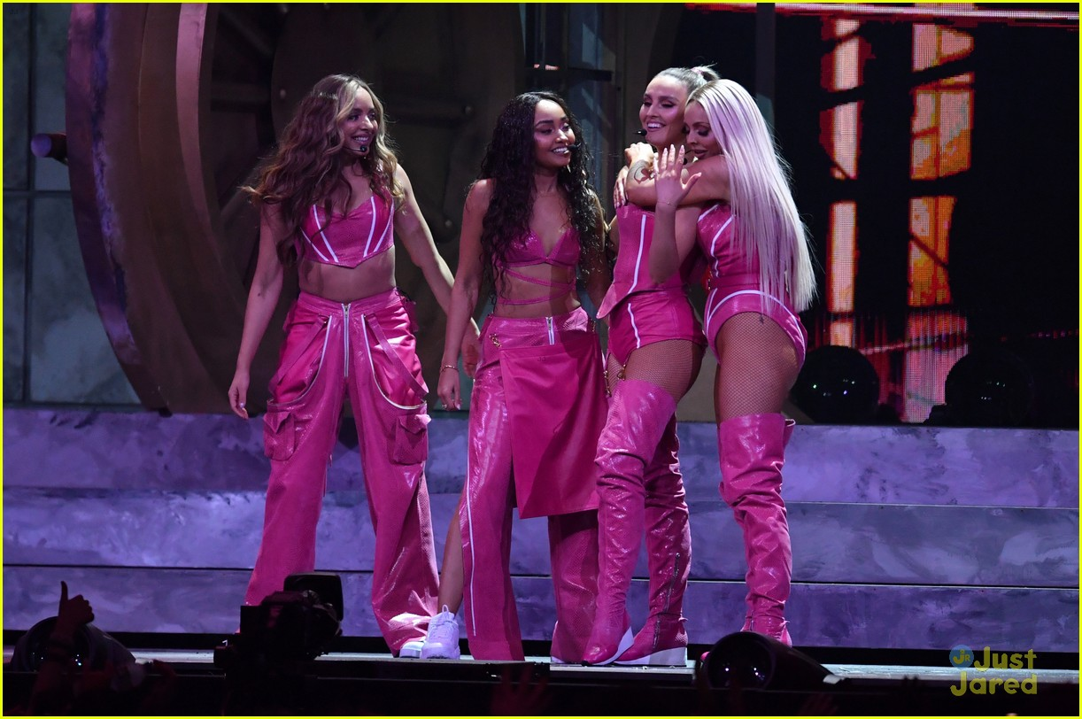 little mix pink look win brits 18