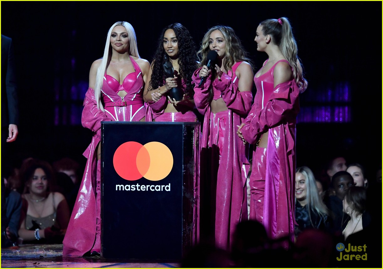 little mix pink look win brits 20