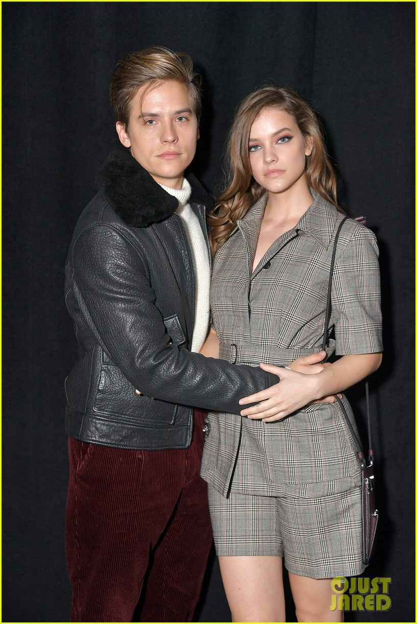 barbara palvin dylan sprouse cozy up at boss nyfw show 01