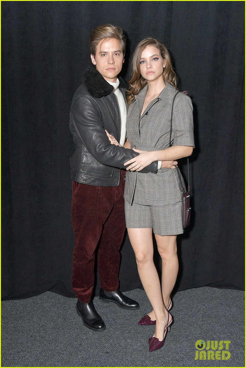 barbara palvin dylan sprouse cozy up at boss nyfw show 03