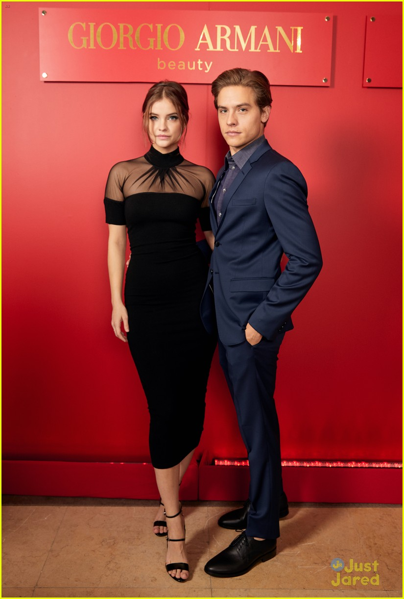 dylan sprouse barbara palvin armani beauty oscar event 04