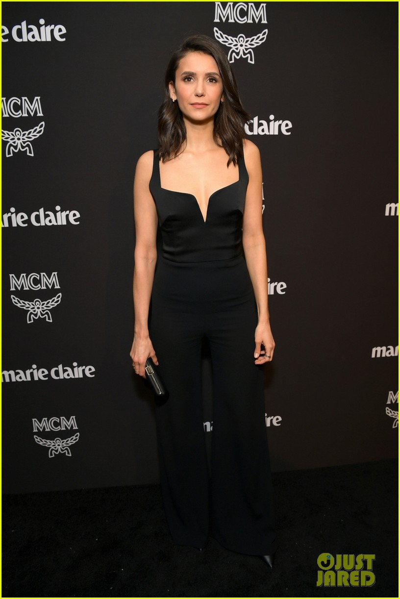 nina dobrev nikki reed francia raisa step out for marie claires change makers event 01