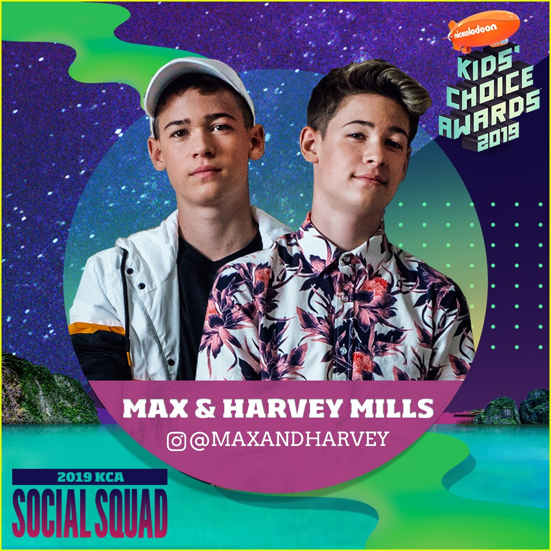 max and harvey lisa and lena and more stars nickelodeons kca 2019 social squad 03
