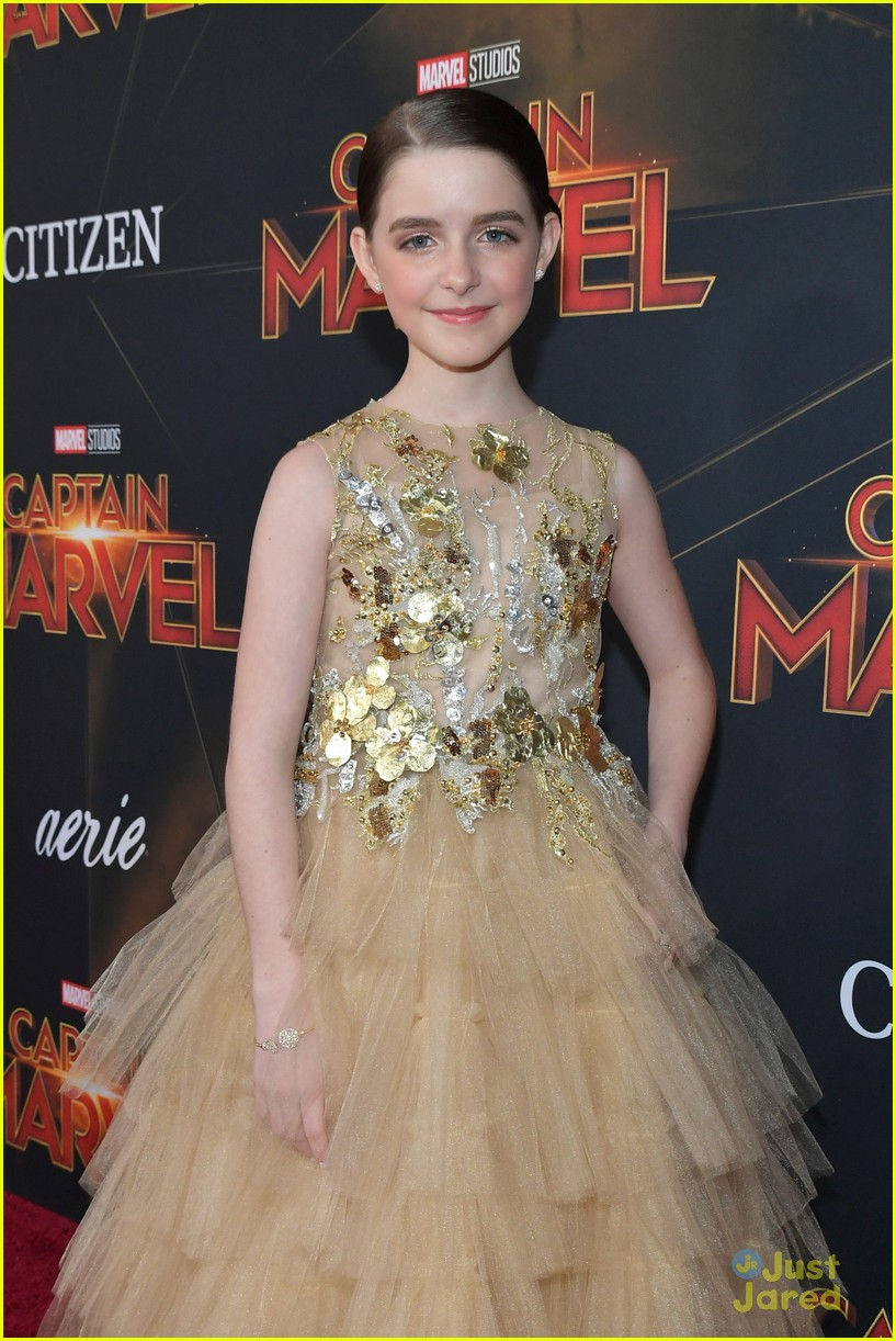 McKenna Grace Glams Up in Ball Gown For 'Captain Marvel
