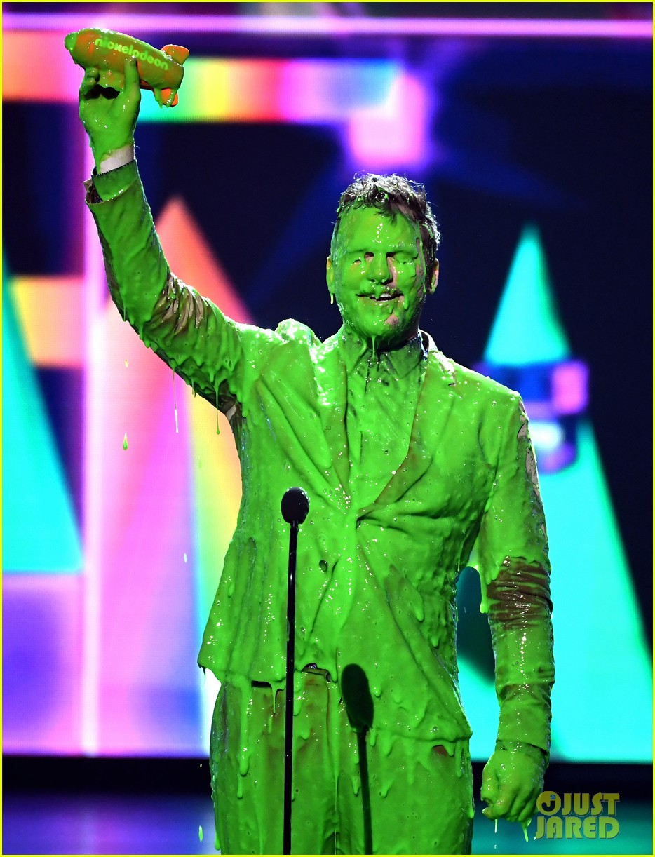 chris pratt will smith slimed kids choice awards 2019 02
