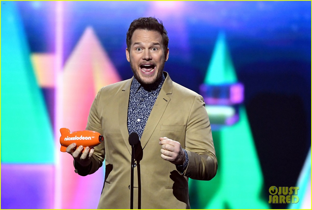 chris pratt will smith slimed kids choice awards 2019 06
