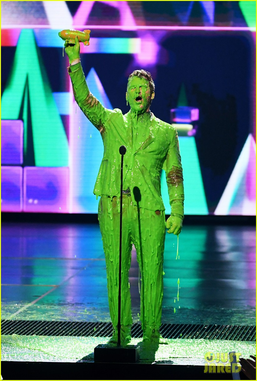 chris pratt will smith slimed kids choice awards 2019 08