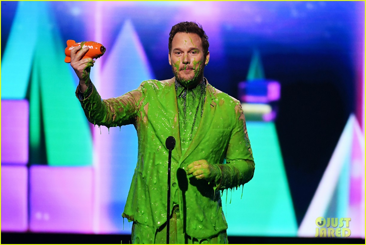 chris pratt will smith slimed kids choice awards 2019 11
