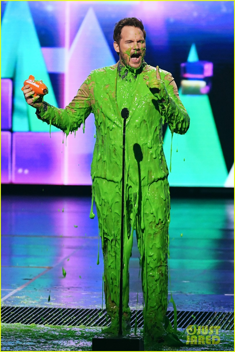 chris pratt will smith slimed kids choice awards 2019 12