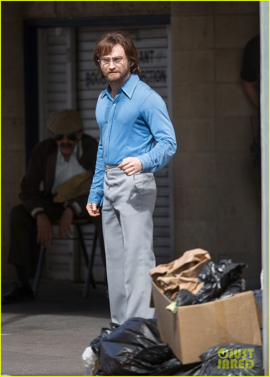 daniel radcliffe sports long hair and beard on escape from pretoria set 01