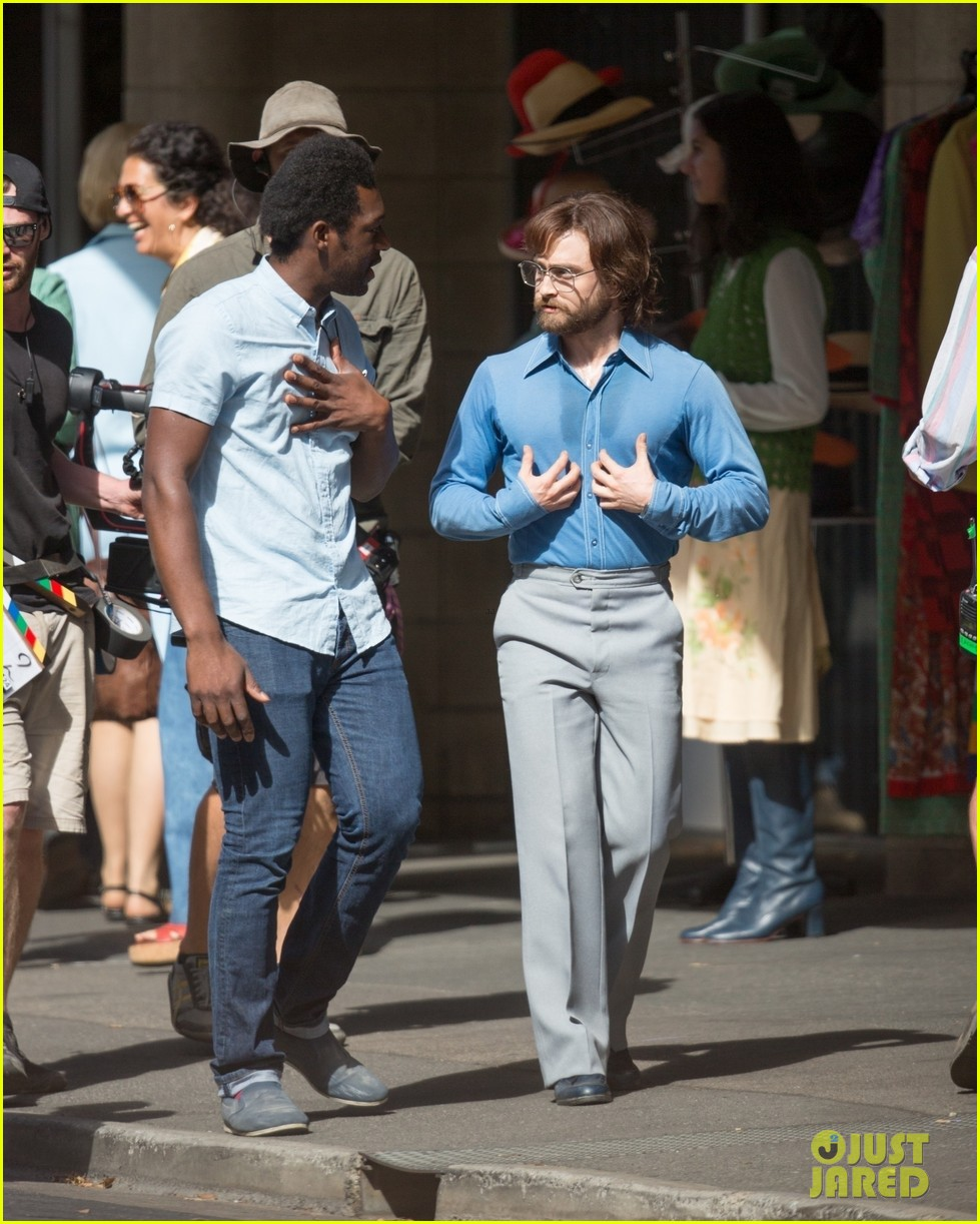 daniel radcliffe sports long hair and beard on escape from pretoria set 02