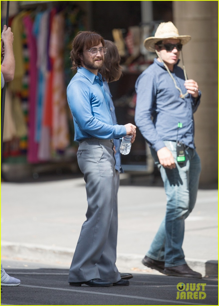 daniel radcliffe sports long hair and beard on escape from pretoria set 04