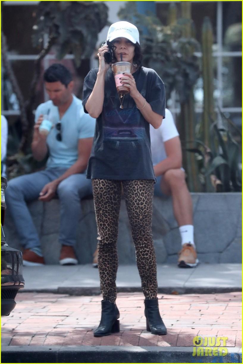 vanessa hudgens slays in leopard print pants ahead of coachella 05