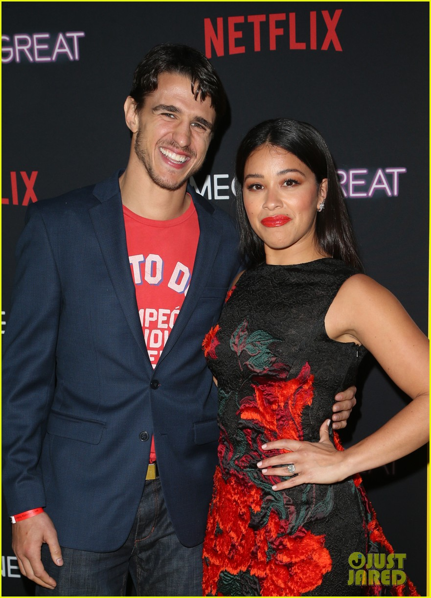 gina rodriguez is supported by fiance joe locicero at someone great premiere 01