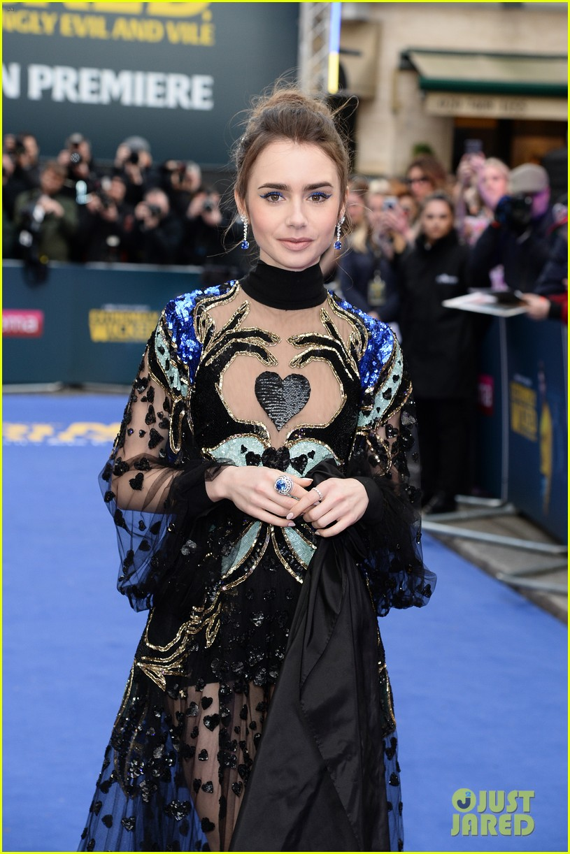 zac efron lily collins premiere extremely wicked in london 02
