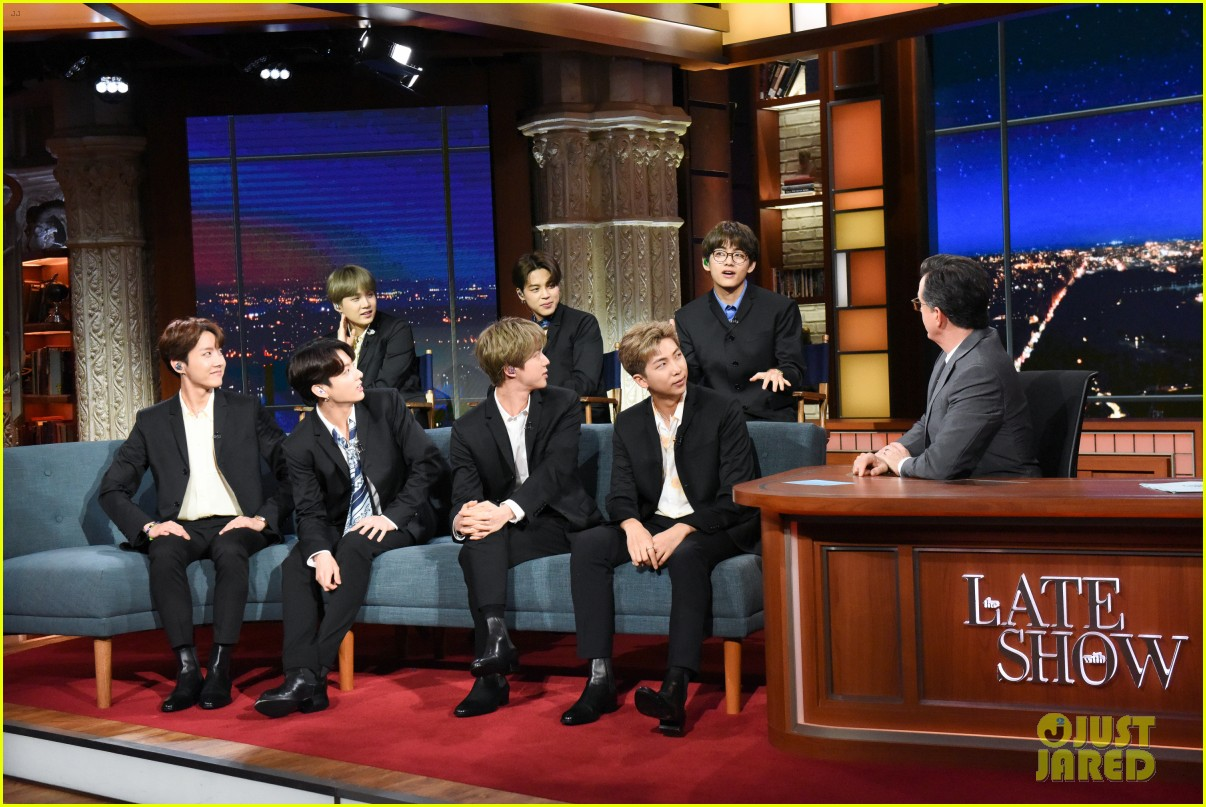 BTS late show stephen colbert beatles 05