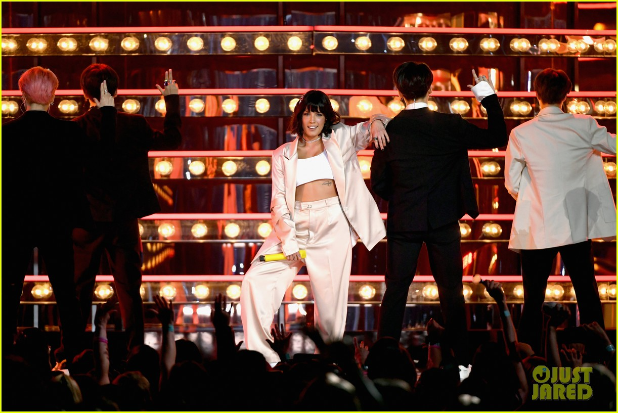 BTS & Halsey Slay Their Debut Live Performance of 'Boy With