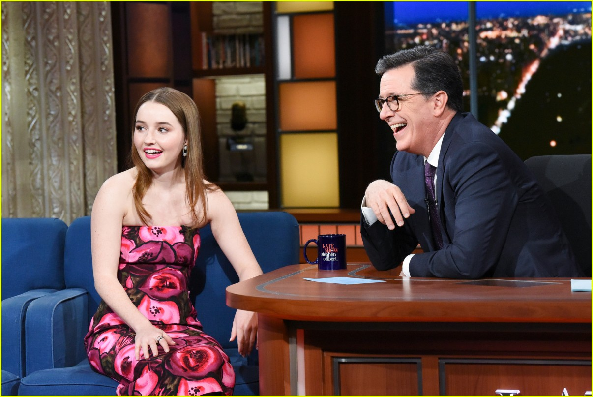 kaitlyn dever on colbert 04