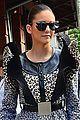 nina dobrev keeps it fierce in trendy animal print dress 03