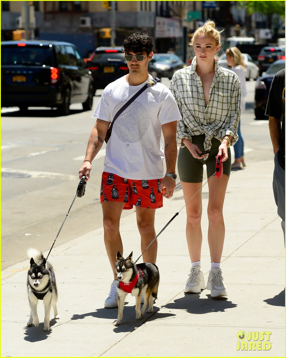joe jonas sophie turner take their dogs for a walk in nyc 01